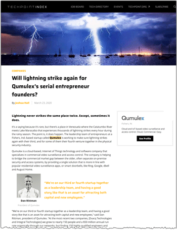 Techpoint profile of Qumulex